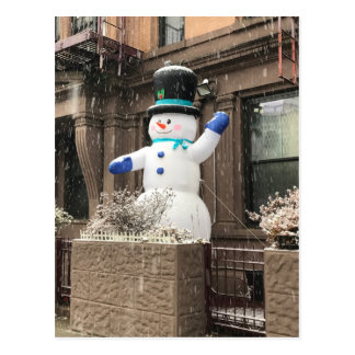 北西側の雪だるまのニューヨークシティNYCの雪 ポストカード