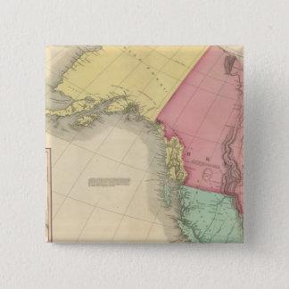 北西北アメリカ 5.1CM 正方形バッジ