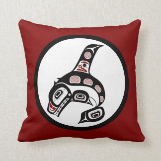北西太平洋沿岸のHaidaの芸術のシャチ クッション