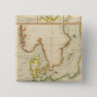 北、バルト海 5.1CM 正方形バッジ