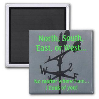 北、南、東かまたは西の磁石 マグネット