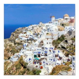 北Santoriniの島ギリシャのOiaの村 カード