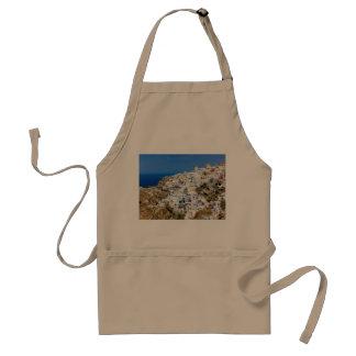 北Santoriniの島ギリシャのOiaの村 スタンダードエプロン