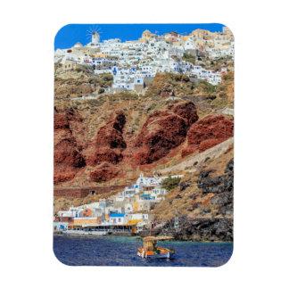 北Santoriniの島ギリシャのOiaの村 マグネット