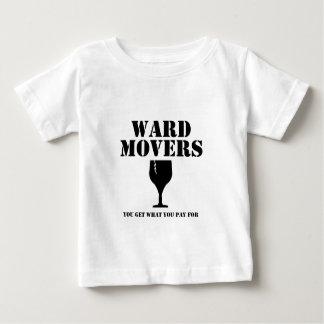 区の引越し業者: 支払うものの得ます(ガラス) ベビーTシャツ