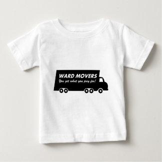 区の引越し業者: 支払うものの得ます(トラック2) ベビーTシャツ