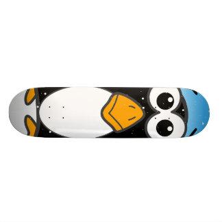 区分されたペンギン スケートボード
