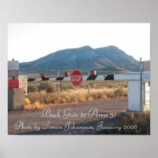 区域51の背部ゲートの写真ポスター ポスター