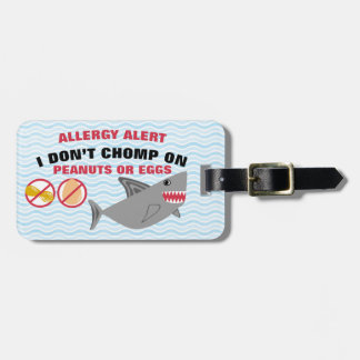 医学のキットのための卵ピーナツアレルギー警報鮫 ラゲッジタグ