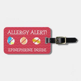 医学のキットのための多数の食物アレルギー警報ラベル ラゲッジタグ