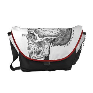 医学のスカルのバッグ-解剖学のバッグ メッセンジャーバッグ