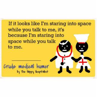医学のユーモア 写真彫刻(台付き)