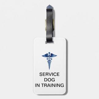 医学のロゴとIDの訓練の犬を整備して下さい ラゲッジタグ