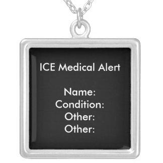 医学の注意深いネックレスの(黒い) ~はカスタマイズ! シルバープレートネックレス
