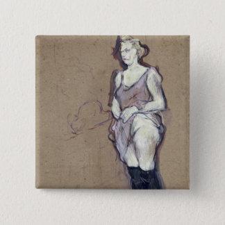 医学の点検: ブロンドの売春婦1894年 5.1CM 正方形バッジ