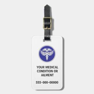 医学の病気の認識度|の青 ラゲッジタグ