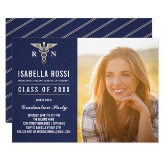医学の看護専門学校の卒業の招待状 カード
