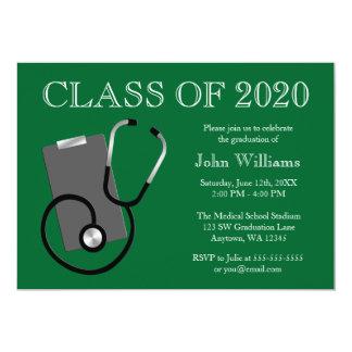 医学の看護専門学校の緑の卒業 カード