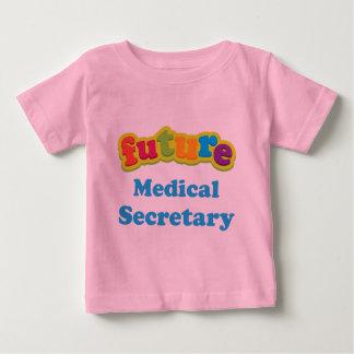 医学の秘書(未来)幼児ベビーのTシャツ ベビーTシャツ