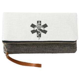 医学の記号を看護するRN クラッチバッグ