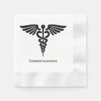 医学の記章のケリュケイオンのお祝い 縁ありカクテルナプキン