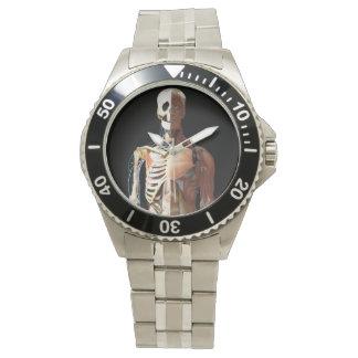 医学の骨組ステンレス製の腕時計 リストウオッチ