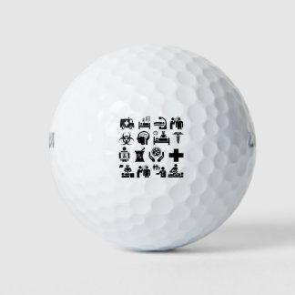 医学アイコンはっきりしたな白黒デザイン ゴルフボール