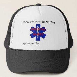 """医学警報は""""私の名前""""帽子です キャップ"""