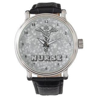 医学LPNを看護しているケリュケイオンの記号| RNのナース 腕時計
