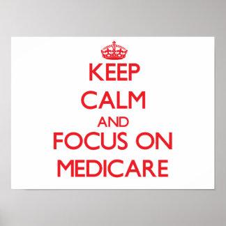 医療保障の平静そして焦点を保って下さい ポスター