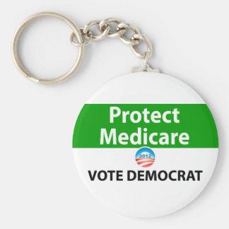医療保障を保護して下さい: 民主党員を投票して下さい キーホルダー