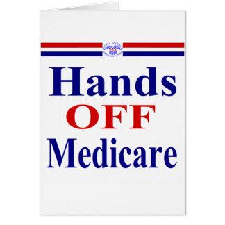 医療保障を離れた手 カード
