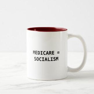 医療保障=社会主義 ツートーンマグカップ