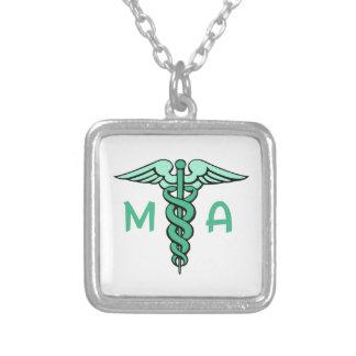医療助手 シルバープレートネックレス
