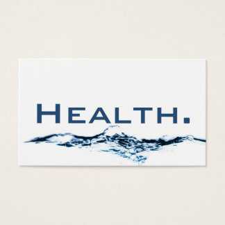 医療専門家の名刺H2O No.1 名刺
