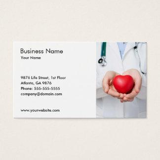 医者およびハートの名刺のテンプレート 名刺