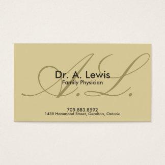 医者および医学の名刺-モノグラム 名刺