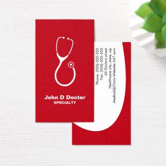 医者かヘルスケアの緑の名刺 名刺