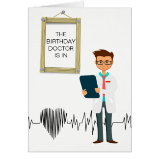 医者のためのカスタムなバースデー・カード カード