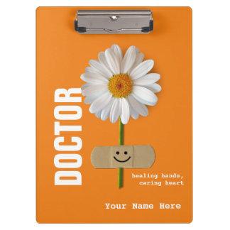 医者のための微笑のデイジーの名前をカスタムするのクリップボード クリップボード