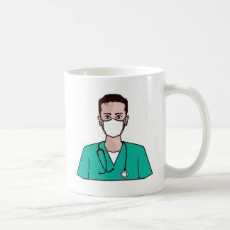 医者のベクトル コーヒーマグカップ