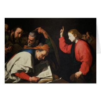 医者間のキリスト、c.1630 カード