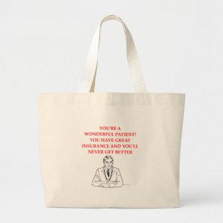 医者 ラージトートバッグ