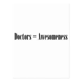 医者= Awesomeness ポストカード