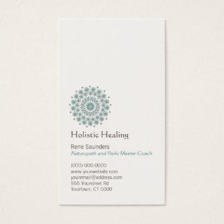 医術および自然な治療の円のロゴ 名刺