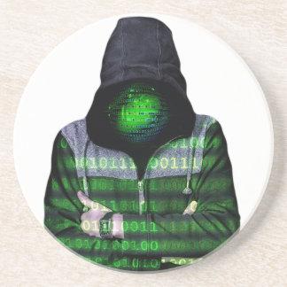 匿名のインターネットのハッカー コースター