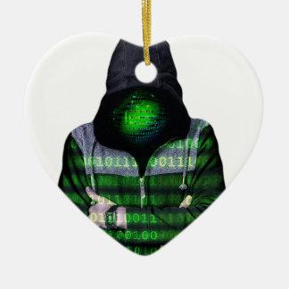 匿名のインターネットのハッカー セラミックオーナメント