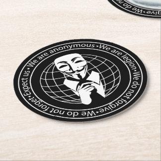 匿名のシール ラウンドペーパーコースター