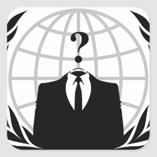 匿名のロゴ スクエアシール