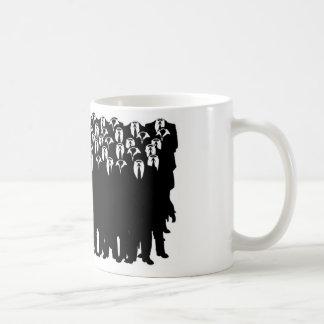 匿名の人々 コーヒーマグカップ